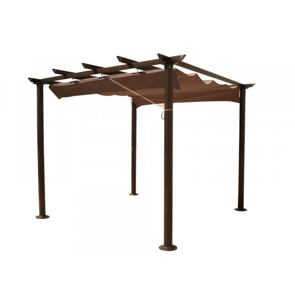achat vente pergola de jardin pas cher aluminium 3x3m badaboum. Black Bedroom Furniture Sets. Home Design Ideas
