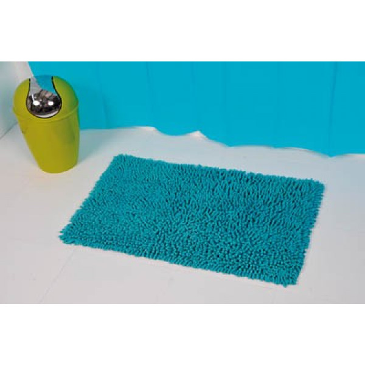 tapis de coton chenille turquoise linge de maison pas cher badaboum. Black Bedroom Furniture Sets. Home Design Ideas