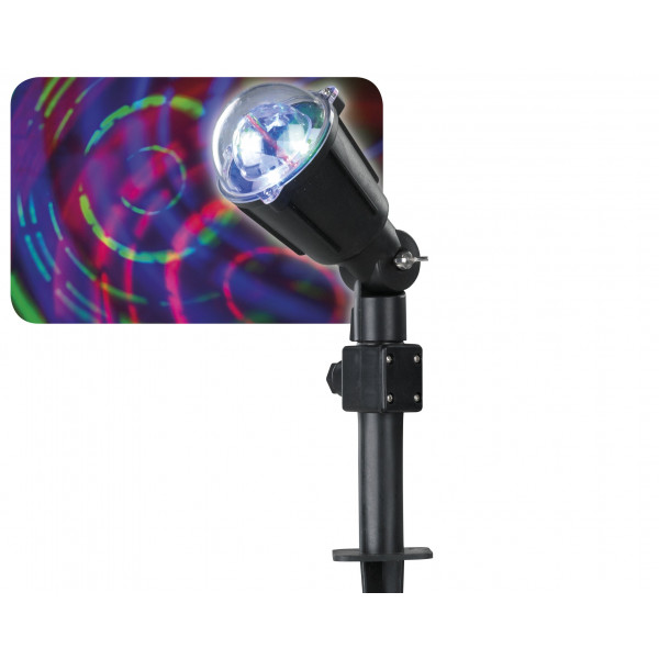 Projecteur led laser multicolore motifs circulaires deco noel badaboum for Projecteur led laser