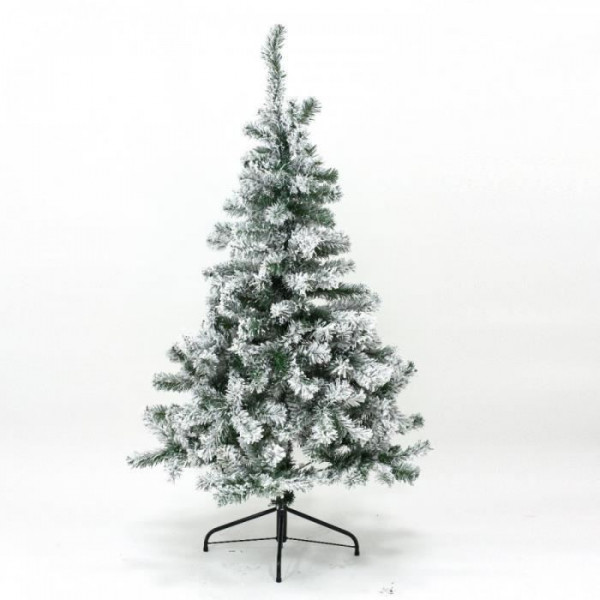 sapin artificiel de noel floqu vert neige 120 cm sapin artificiel pas cher. Black Bedroom Furniture Sets. Home Design Ideas