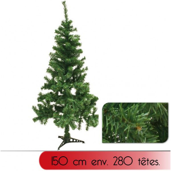 sapin de noel artificiel vert 150 cm sapin artificiel pas. Black Bedroom Furniture Sets. Home Design Ideas