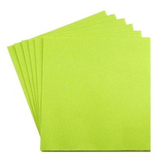 Serviette cocktail en papier vert anis vaisselle jetable pas cher - Serviette en papier vert fonce ...
