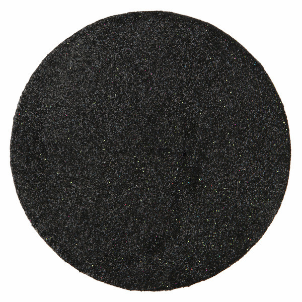 Set de table rond paillet noir decoration mariage badaboum for Set de table paillete