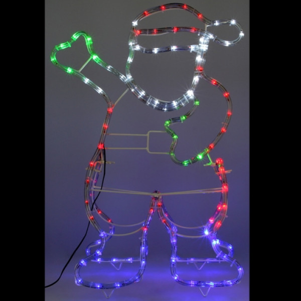 silhouette de noel lumineuse du p re noel 120 led badaboum. Black Bedroom Furniture Sets. Home Design Ideas