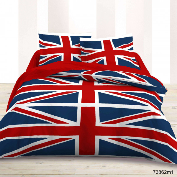 housse de couette drapeau anglais pas cher badaboum. Black Bedroom Furniture Sets. Home Design Ideas