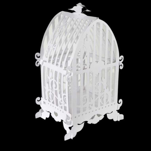 urne enveloppes cage a oiseau vintage decoration mariage badaboum. Black Bedroom Furniture Sets. Home Design Ideas
