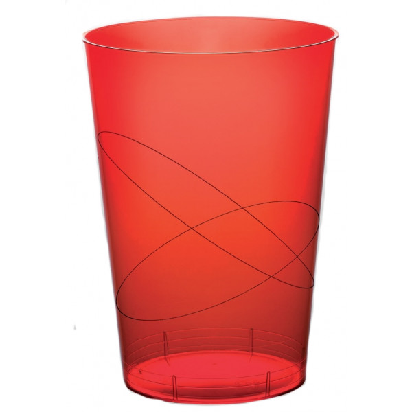 Verre a bi re en plastique rigide rouge vaisselle jetable for Piscine plastique rigide