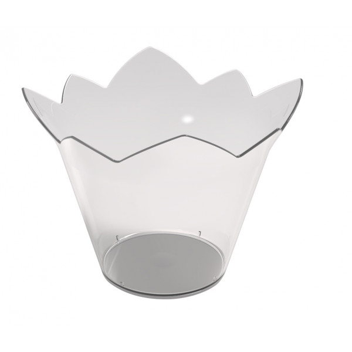 verrine plastique couronne transparent vaisselle jetable badaboum. Black Bedroom Furniture Sets. Home Design Ideas