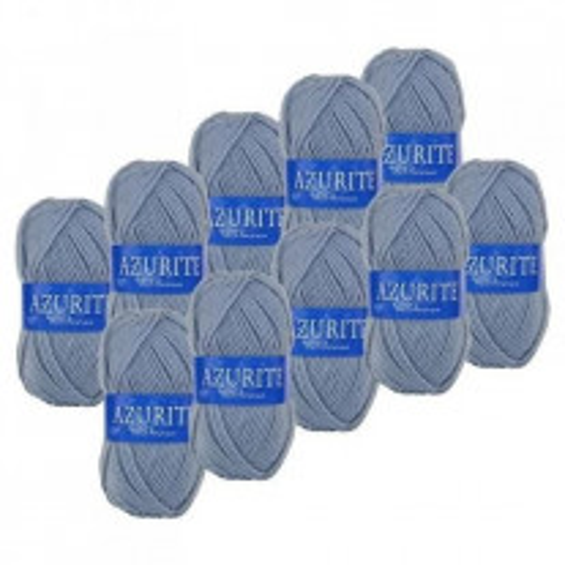 10 Pelotes de laine Azurite Bleu Gris