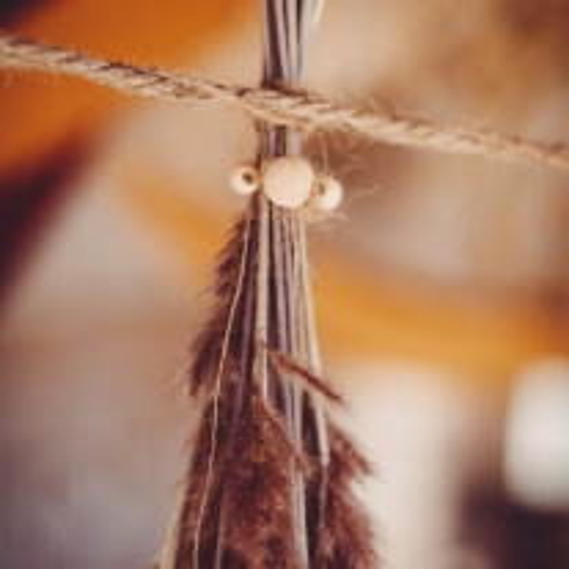 12 Perles en bois naturel