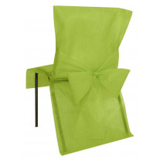 Housse de chaise Vert anis avec noeud