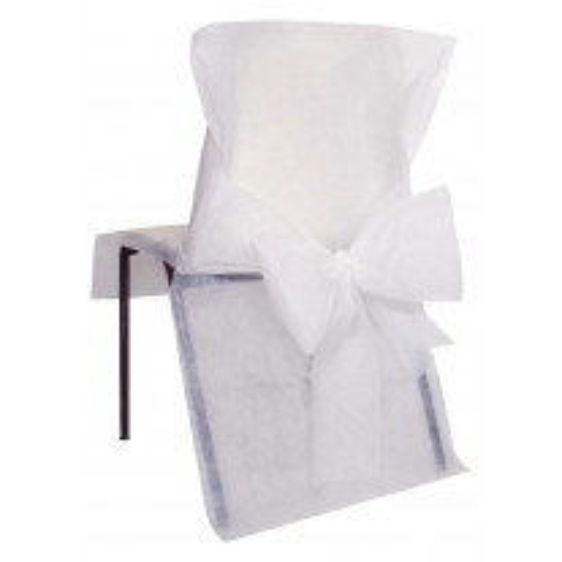 Housse de chaise Blanche avec noeud