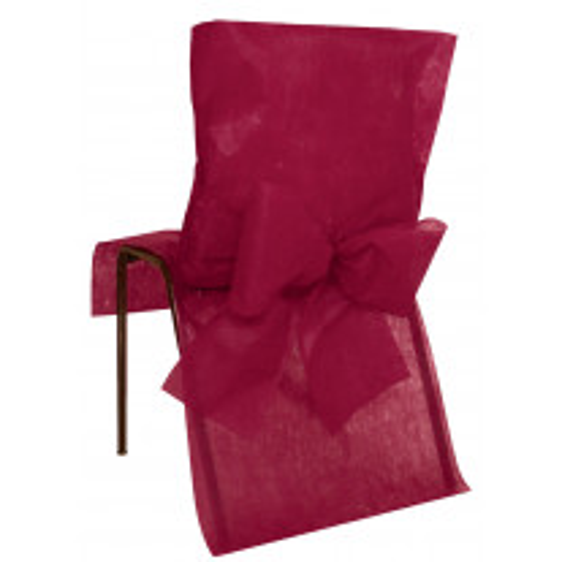 Housse de chaise Bordeaux avec noeud