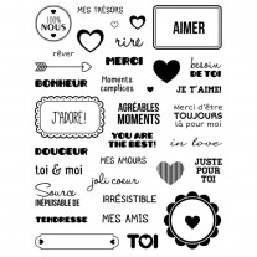 34 Tampons transparents Motifs Amour