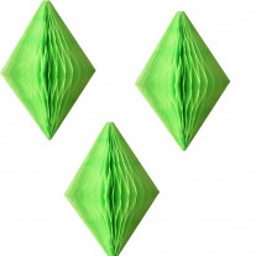 3 mini diamants alvéolés Vert anis