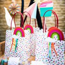 4 Grands sacs a goodies pois multicolore