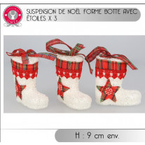 Suspension botte de noel avec étoile