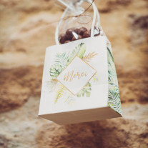 6 Sacs cadeaux Merci Tropical