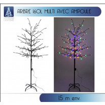 Arbre de noel lumineux 160 LED Multicolore