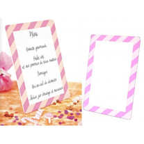 Ardoise menu candy bar Rose