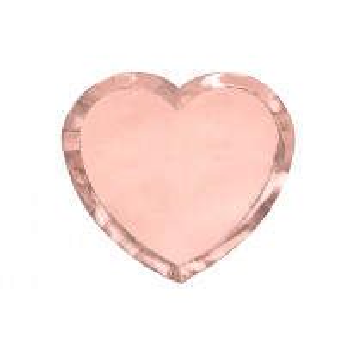 Assiette carton coeur rose gold