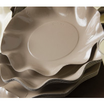 Assiette en carton design Vague Taupe 27cm