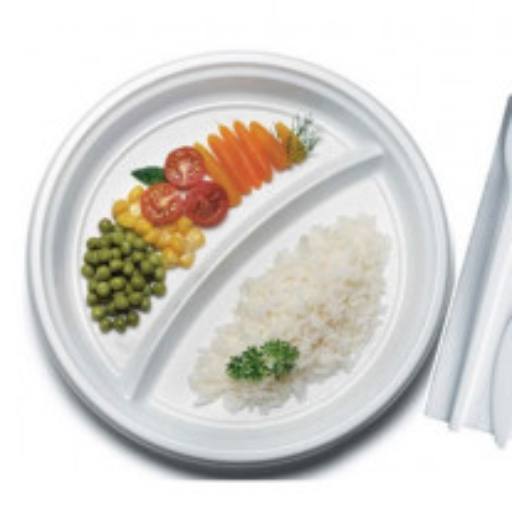 Assiette plastique Blanche 2 Compartiments