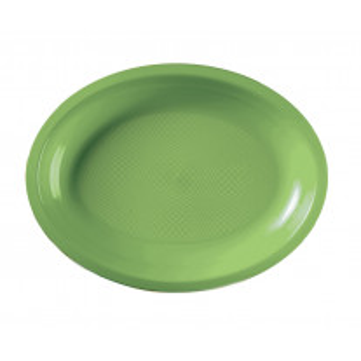 Assiette plastique Ovale Vert anis 25cm