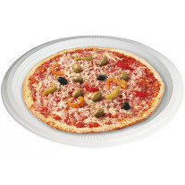 Assiettes à Pizza en plastique blanc 32 cm