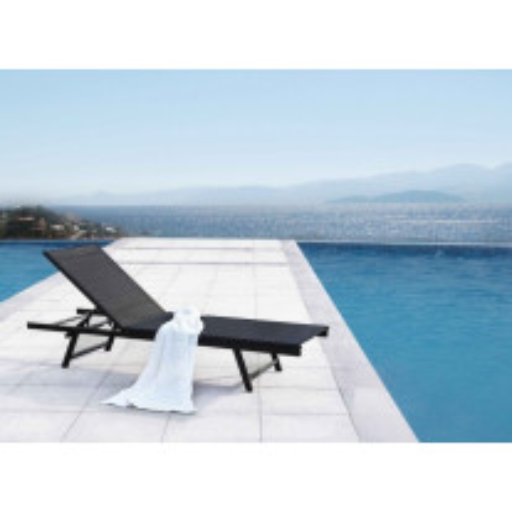 Bain de soleil métal textilène Santorin Blanc