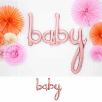 Ballon Mylar Baby Rose Gold