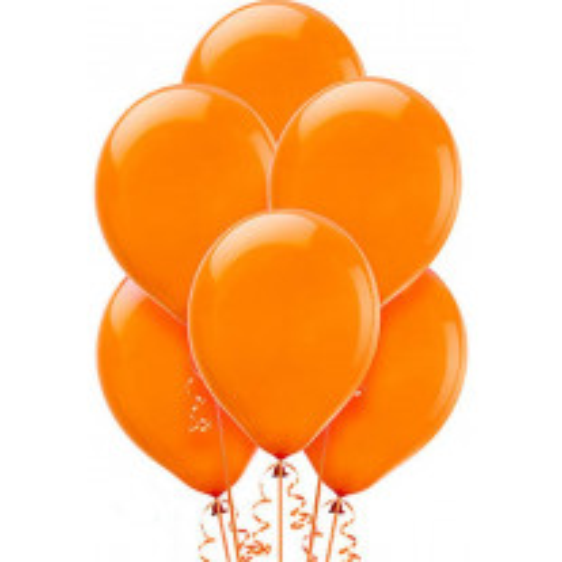 Ballon de baudruche Orange 30 cm x 50 pièces