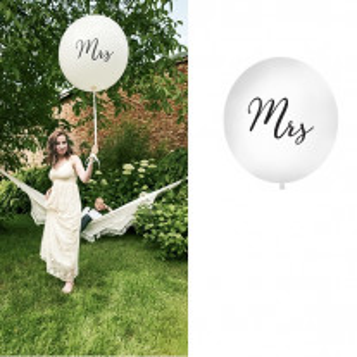 Ballon géant Mariage 1m Mrs