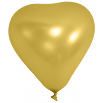 Ballon gonflable Coeur Or 20cm