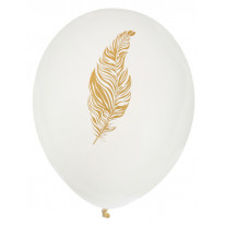 Ballon gonflable Plume Or