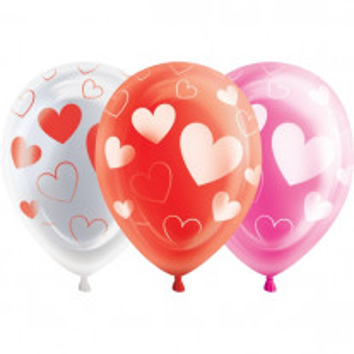 Ballon Mariage LED Coeur Rouge 25cm