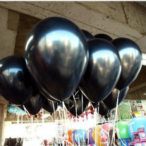 Ballon mariage nacre Noir 30cm