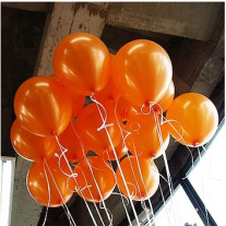 Ballon mariage nacre Orange 30cm