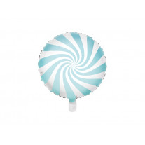 Ballon mylar Candy bar bleu ciel