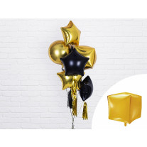Ballon Mylar Cube Or