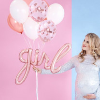 Ballon Mylar Girl Rose Gold