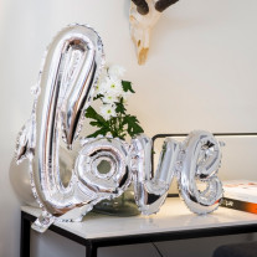 Ballon mylar mariage LOVE Argent