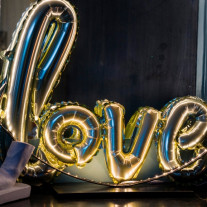 Ballon mylar mariage LOVE Or