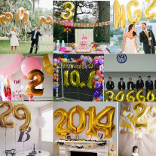 Ballon Mylar mariage Numéro Argent 36cm
