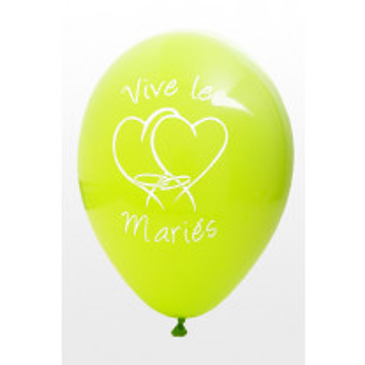Ballon vive les mariés Vert anis  x8