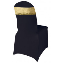 Bande pour chaise spandex Or