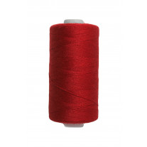 Bobine de fil a coudre rouge vif 500m