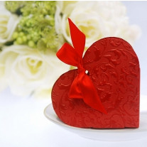 Boite a dragées mariage Coeur Rouge