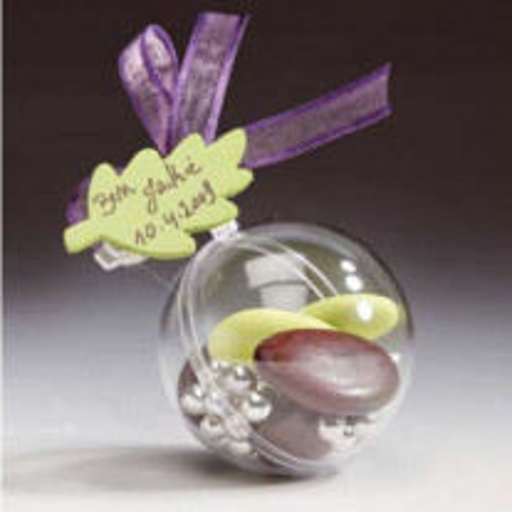 Contenant à dragées plastique boule transparente 5cm