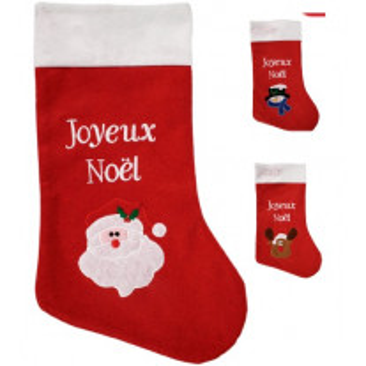 Chaussette Botte Joyeux Noel Assortis